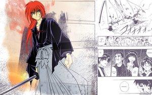Rating: Safe Score: 17 Tags: all_male himura_kenshin japanese_clothes katana male rurouni_kenshin scar sword weapon User: psc