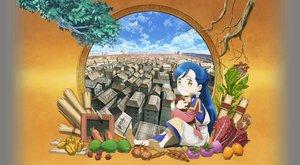 Rating: Safe Score: 19 Tags: blue_hair food honzuki_no_gekokujou loli long_hair myne yellow_eyes User: gnarf1975