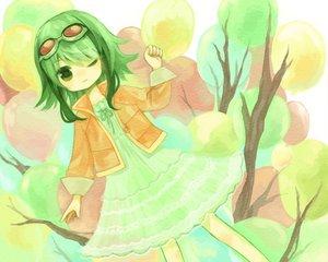 Rating: Safe Score: 21 Tags: chibi dress goggles green_eyes green_hair gumi usky vocaloid User: HawthorneKitty