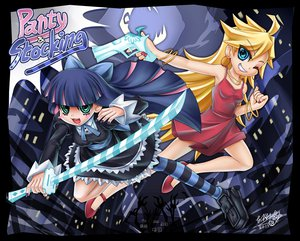 Rating: Safe Score: 34 Tags: gun panty_(character) panty_&_stocking_with_garterbelt stocking_(character) sword weapon User: HawthorneKitty