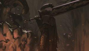 Rating: Safe Score: 136 Tags: armor bloodborne dark hat mask snatti sword the_hunter weapon white_hair User: Flandre93