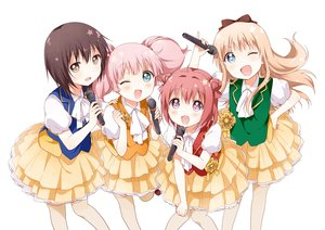 Rating: Safe Score: 134 Tags: akaza_akari aqua_eyes blonde_hair blue_eyes blush bow brown_eyes brown_hair funami_yui group long_hair microphone namori pink_hair purple_eyes red_hair short_hair skirt toshinou_kyouko twintails uniform white yoshikawa_chinatsu yuru_yuri User: humanpinka