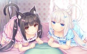 Rating: Safe Score: 70 Tags: 2girls animal_ears black_hair blue_eyes catgirl chocola_(sayori) dress game_cg nekopara neko_works sayori tail twintails vanilla_(sayori) white_hair User: BattlequeenYume