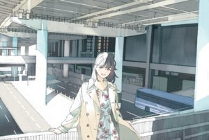Rating: Safe Score: 15 Tags: brown_eyes brown_hair building city dress original scenic short_hair summer_dress wamizu User: otaku_emmy