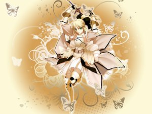 Rating: Safe Score: 55 Tags: artoria_pendragon_(all) fate_(series) fate/stay_night fate/unlimited_codes saber saber_lily User: pantu