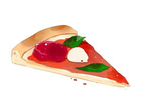 Rating: Safe Score: 17 Tags: animal bird chai_(artist) food original pizza polychromatic signed white User: otaku_emmy