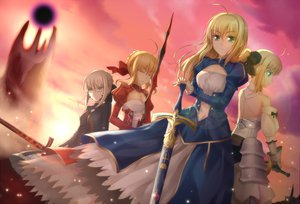 Rating: Safe Score: 116 Tags: blonde_hair dress fate/stay_night fate/zero green_eyes qiuzhi_huiyi saber saber_alter saber_extra saber_lily sword weapon User: opai