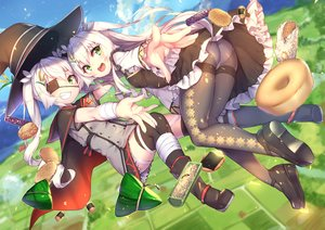 Rating: Safe Score: 147 Tags: anthropomorphism ass bandage boots cape dress eyepatch food green_eyes hat long_hair panties pantyhose rice_simon see_through sergestid_shrimp_in_tungkang tagme_(artist) thighhighs twintails underwear white_hair witch_hat User: otaku_emmy