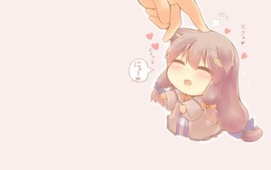 Rating: Safe Score: 130 Tags: animal_ears blush catgirl chibi hazuki_ruu long_hair patchouli_knowledge purple_hair touhou User: SciFi
