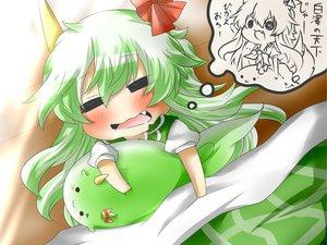 Rating: Safe Score: 38 Tags: blush cat_smile chibi ex_keine fang green_hair horns kamishirasawa_keine long_hair rebecca_(naononakukoroni) sleeping touhou User: SciFi