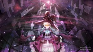 Rating: Safe Score: 148 Tags: chain flowers hat original rose undeedking white_hair wink witch witch_hat yellow_eyes User: FormX