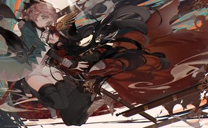 Rating: Safe Score: 69 Tags: 2girls fate/grand_order fate_(series) kawacy nobunaga_oda_(fate) saber sakura_saber User: luckyluna