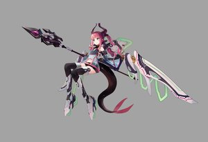 Rating: Safe Score: 47 Tags: elizabeth_bathory_(fate) fate/grand_order fate_(series) gray green_eyes horns long_hair pink_hair pointed_ears shorts spear sunga2usagi tail thighhighs weapon wings User: RyuZU