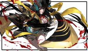 Rating: Safe Score: 83 Tags: black_hair blood breasts g_q hat onmyouji sword weapon yellow_eyes youtouhime_(omnyouji) User: FormX