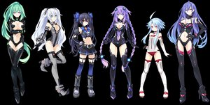 Rating: Safe Score: 643 Tags: aqua_hair black_hair black_heart blanc blue_eyes bodysuit braids breasts cleavage flat_chest garter green_hair green_heart group hyperdimension_neptunia hyperdimension_neptunia_v iris_heart long_hair navel neptune noire purple_eyes purple_hair purple_heart pururut red_eyes skintight thighhighs transparent tsunako twintails vert white_hair white_heart User: Wiresetc