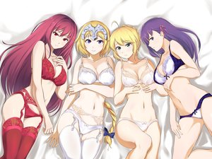 Rating: Questionable Score: 52 Tags: bra fate/grand_order fate_(series) fate/stay_night garter_belt group jeanne_d'arc_(fate) matou_sakura panties saber scathach_(fate/grand_order) stockings tagme_(artist) thighhighs underwear User: luckyluna
