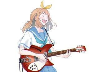 Rating: Safe Score: 36 Tags: brown_hair guitar hasisisissy hibike!_euphonium instrument school_uniform short_hair skirt white yoshikawa_yuuko User: Dreista
