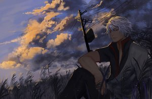 Rating: Safe Score: 58 Tags: all_male clouds gintama grass male sakata_gintoki short_hair sky white_hair xiaoshou_xiansheng User: Flandre93