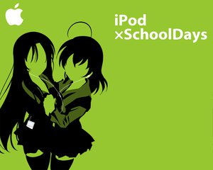 Rating: Questionable Score: 16 Tags: ipod katsura_kotonoha parody polychromatic saionji_sekai school_days school_uniform User: sakurapremier