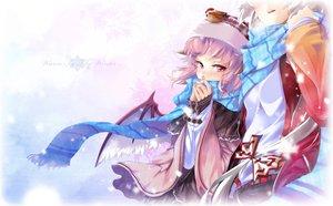 Rating: Safe Score: 70 Tags: fujiwara_no_mokou hong_(white_spider) mystia_lorelei scarf touhou wings winter User: Wiresetc