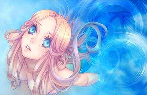 Rating: Questionable Score: 88 Tags: blue blue_eyes long_hair mermaid nude pink_hair underwater water User: MidBoss
