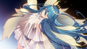 Rating: Safe Score: 30 Tags: blue_hair halo houkai_gakuen long_hair sougishi_ego stars wings yellow_eyes User: Maboroshi