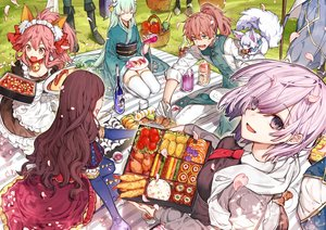 Rating: Safe Score: 34 Tags: animal animal_ears apple apron artoria_pendragon_(all) bell boots breasts brown_hair collar dress drink elbow_gloves fate/grand_order fate_(series) food fou_(fate/grand_order) fruit gloves green_eyes green_hair group hanakeda_(hanada_shiwo) headdress hoodie japanese_clothes kimono kiyohime_(fate/grand_order) leonardo_da_vinci_(fate) long_hair maid male mash_kyrielight merlin_(fate/grand_order) orange_(fruit) paul_bunyan_(fate/grand_order) petals pink_hair ponytail purple_eyes purple_hair romani_archaman saber sake short_hair tamamo_cat tamamo_no_mae_(fate) thighhighs tie yellow_eyes zettai_ryouiki User: otaku_emmy
