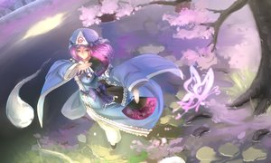Rating: Safe Score: 82 Tags: butterfly cherry_blossoms fan flowers japanese_clothes kikivi pink_hair purple_eyes saigyouji_yuyuko touhou User: Flandre93