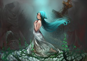 Rating: Safe Score: 126 Tags: aqua_hair dress m874 saya saya_no_uta User: opai