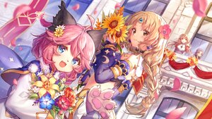 Rating: Safe Score: 49 Tags: animal_ears braids building cat_smile fang flowers jiang-ge loli long_hair pink_hair ponytail ragnarok_online tagme_(character) User: BattlequeenYume