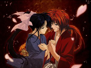 Rating: Safe Score: 2 Tags: himura_kenshin japanese_clothes kamiya_kaoru male petals red rurouni_kenshin scar User: haru3173