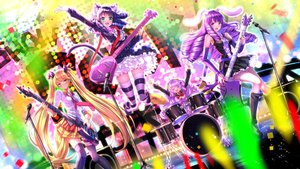 Rating: Safe Score: 94 Tags: animal_ears blonde_hair blue_hair blush bunny_ears catgirl chuchu_(show_by_rock!!) cyan_(show_by_rock!!) dress drums garter glasses green_eyes group guitar instrument kneehighs long_hair microphone moa_(show_by_rock!!) pink_eyes purple_hair retoree_(show_by_rock!!) seifuku show_by_rock!! skirt swordsouls tail thighhighs tie twintails yellow_eyes User: Flandre93