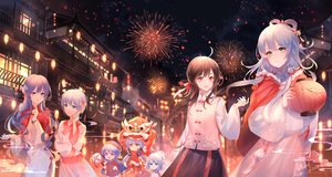 Rating: Safe Score: 45 Tags: festival fireworks japanese_clothes luo_tianyi tagme_(character) vocaloid vocaloid_china yan_he yuezheng_ling yu_jiu User: BattlequeenYume