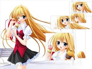 Rating: Safe Score: 9 Tags: blonde_hair food ice_cream tagme User: Oyashiro-sama