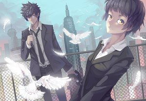 Rating: Safe Score: 53 Tags: animal bird feathers gun kougami_shinya madyy psycho-pass suit tagme tie tsunemori_akane weapon User: opai