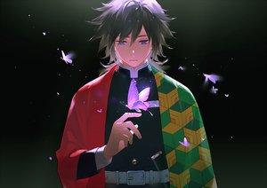 Rating: Safe Score: 53 Tags: all_male black black_hair blue_eyes butterfly gradient japanese_clothes kimetsu_no_yaiba male maosen tomioka_giyuu uniform User: RyuZU