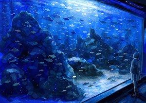 Rating: Safe Score: 91 Tags: animal blue fish nomiya_(no_38) original skirt User: Flandre93