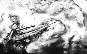 Rating: Safe Score: 66 Tags: hinomaru konpaku_youmu monochrome sword touhou weapon User: PAIIS