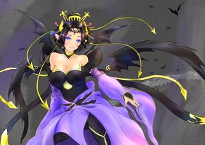 Rating: Safe Score: 20 Tags: animal aqua_eyes bat black_hair blush breasts cleavage digimon lilithmon pointed_ears short_hair tagme_(artist) wings User: luckyluna