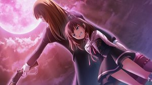 Rating: Safe Score: 16 Tags: 2girls brown_hair clouds loli long_hair moon pink_hair rain ribbons short_hair skirt sky tagme_(artist) umineko_no_naku_koro_ni ushiromiya_maria ushiromiya_rosa water weapon User: RyuZU