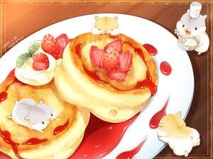 Rating: Safe Score: 20 Tags: animal food fruit hat nobody original signed strawberry yutaka_kana User: otaku_emmy