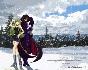 Rating: Safe Score: 22 Tags: black_hair boots cc code_geass glasses green_hair lelouch_lamperouge long_hair male mask orange_eyes purple_eyes skirt snow winter User: cloudfog