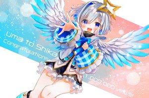 Rating: Safe Score: 28 Tags: amane_kanata angel blush dress gray_hair halo hololive purple_eyes syukonbu wings User: BattlequeenYume