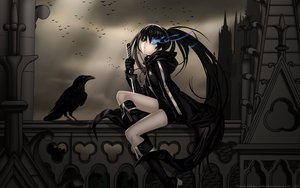 Rating: Safe Score: 153 Tags: animal bird black_hair black_rock_shooter blue_eyes boots dark kuroi_mato long_hair vector User: gnarf1975