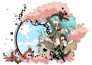 Rating: Safe Score: 16 Tags: 1925_(vocaloid) animal aqua_eyes aqua_hair boots bridget00747 clouds dog flowers hat hatsune_miku long_hair skirt sky tree vocaloid white User: HawthorneKitty