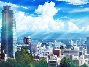 Rating: Safe Score: 38 Tags: building city clouds hankachi_(okayama012) nobody original scenic sky User: RyuZU