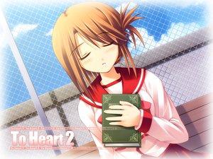 Rating: Safe Score: 10 Tags: aquaplus komaki_manaka leaf to_heart to_heart_2 User: Oyashiro-sama