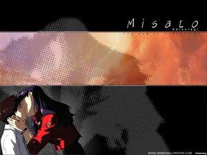 Rating: Safe Score: 6 Tags: ikari_shinji katsuragi_misato kiss neon_genesis_evangelion User: Oyashiro-sama