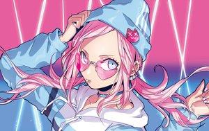Rating: Safe Score: 47 Tags: aqua_eyes candy choker hat hoodie lollipop long_hair original pink_hair puppeteer7777 sunglasses twintails User: otaku_emmy