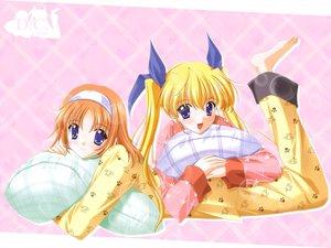 Rating: Safe Score: 6 Tags: amakase_miharu da_capo pajamas yoshino_sakura User: Oyashiro-sama